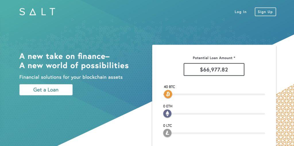 Número 2 de la mejor plataforma de préstamos criptográficos: préstamos SALT