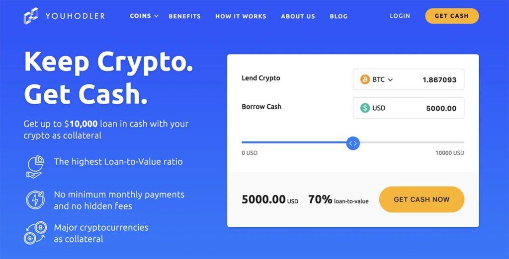 Mejor plataforma de préstamo criptográfico número 2: SALT Lending YouHodler