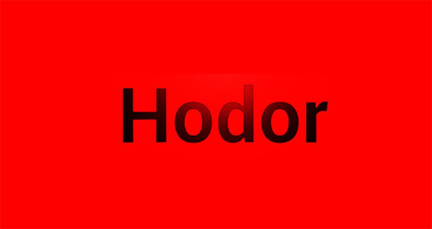 Cortesía del teclado Hodor
