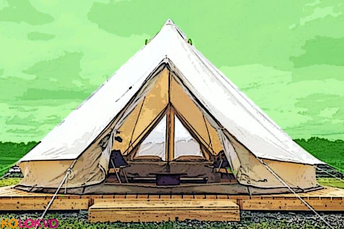 La tienda Canvas Camp proporciona el lujo de camping