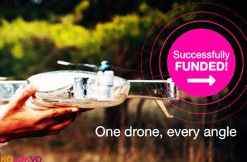 dron de la cámara aérea X PlusOne arrasa en Kickstarter